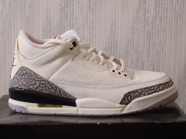 1994 jordan 3 retro white cement grey black shoes