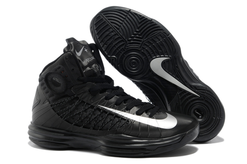 Nike Lunar Hyperdunk X Olympic All Black White Logo Shoes