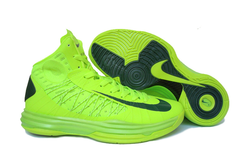 Nike Lunar Hyperdunk X Olympic All Green Black Logo Shoes