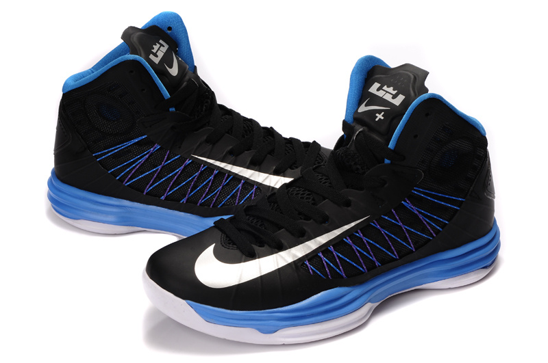 best sneakers 4d39c 5abe1 Nike Lunar Hyperdunk X Olympic Black Blue White Logo Shoes