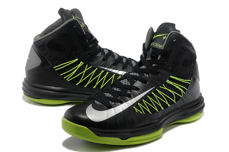 new style 19704 4f4c9 Nike Lunar Hyperdunk X Olympic Black Green White Logo Shoes