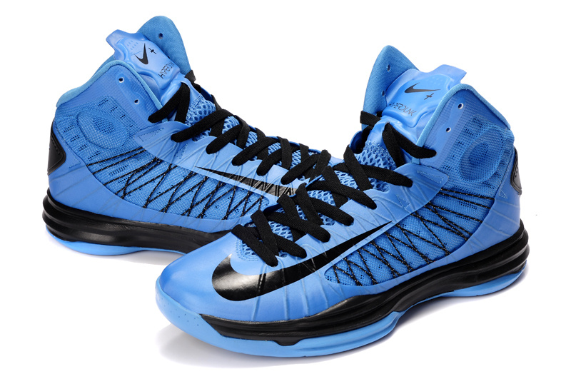 Nike Lunar Hyperdunk X Olympic Blue Black Black Logo Shoes