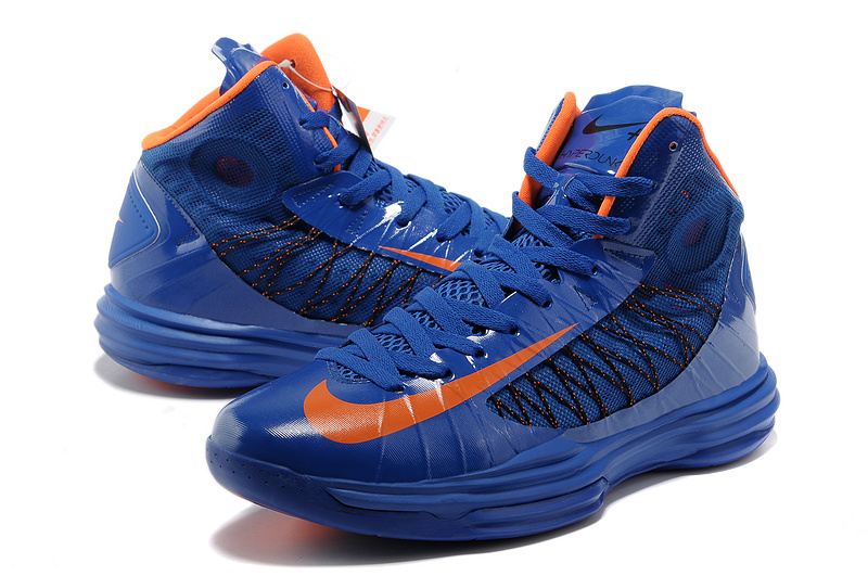 Nike Lunar Hyperdunk X Olympic Blue Orange Logo Shoes