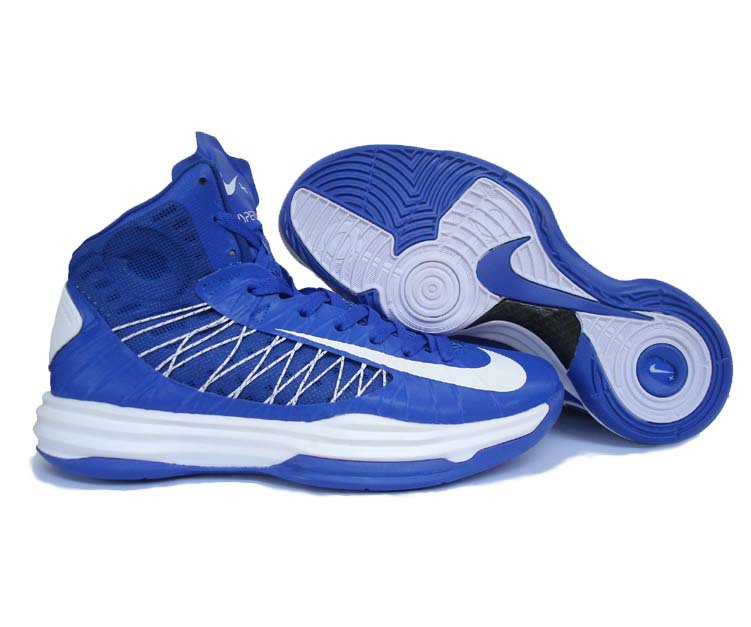 Nike Lunar Hyperdunk X Olympic Blue White White Logo Shoes