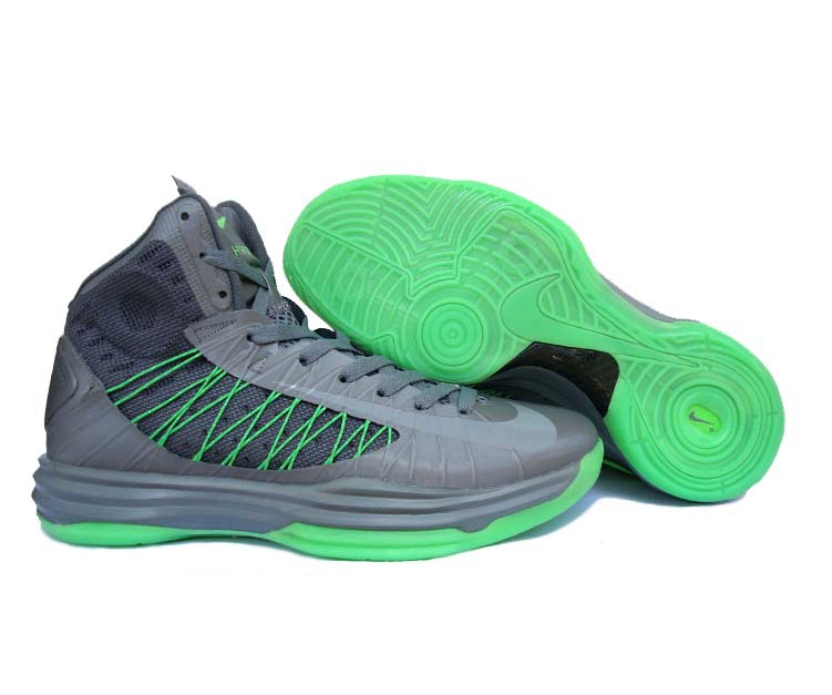 Nike Lunar Hyperdunk X Olympic Grey Green Logo Shoes