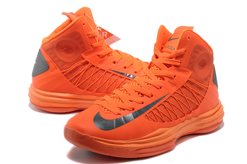 Nike Lunar Hyperdunk X Olympic Orange Black Logo Shoes
