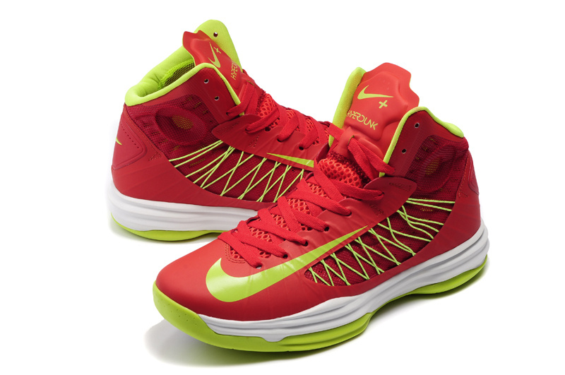 Nike Lunar Hyperdunk X Olympic Red White Green Logo Shoes