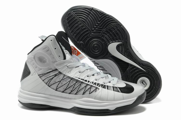 Nike Lunar Hyperdunk X Olympic White Grey Black Logo Shoes
