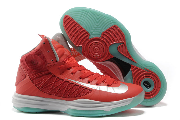 Nike Lunar Hyperdunk X Olympic Wine Red White Green Shoes