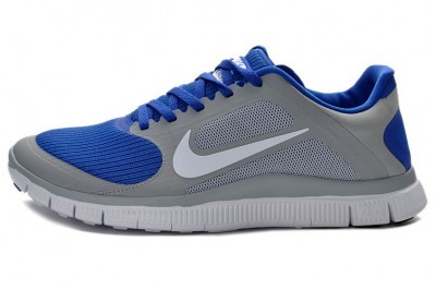 2013 Nike Free 4.0 V3 Mens Shoes Grey Blue