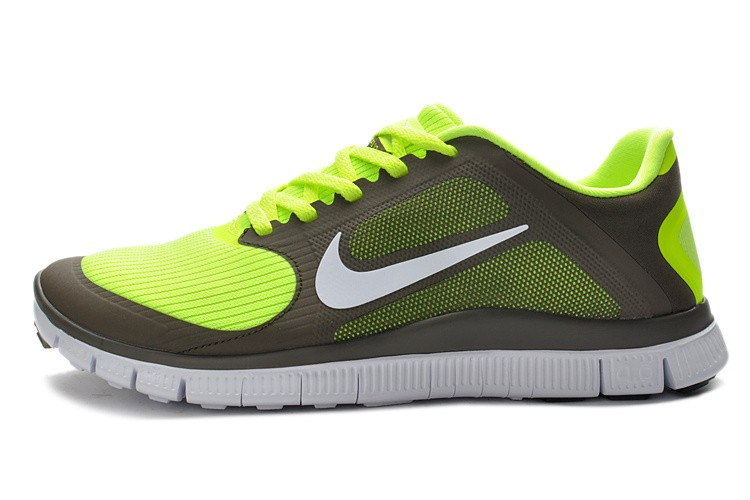 2013 Nike Free 4.0 V3 Mens Shoes Grey Green