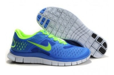 2013 Nike Free Run 4.0 V2 Mens Shoes Blue Green