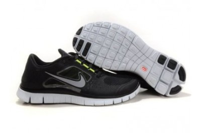 2013 Nike Free Run 5.0 V3 Mens Shoes Black Grey