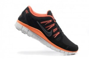 2013 Nike Free Run 5.0 V3 Mens Shoes Black Orange