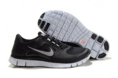2013 Nike Free Run 5.0 V3 Mens Shoes Black Silver