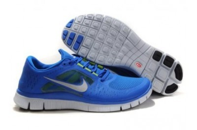 2013 Nike Free Run 5.0 V3 Mens Shoes Blue White