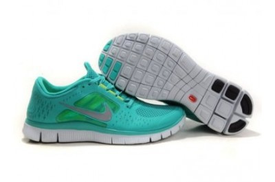 2013 Nike Free Run 5.0 V3 Mens Shoes Green Silver