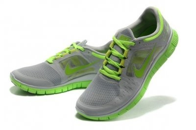 2013 Nike Free Run 5.0 V3 Mens Shoes Grey Green