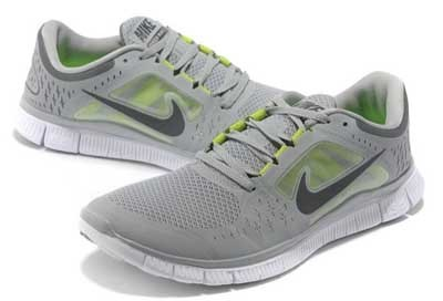 2013 Nike Free Run 5.0 V3 Mens Shoes Light Grey Green