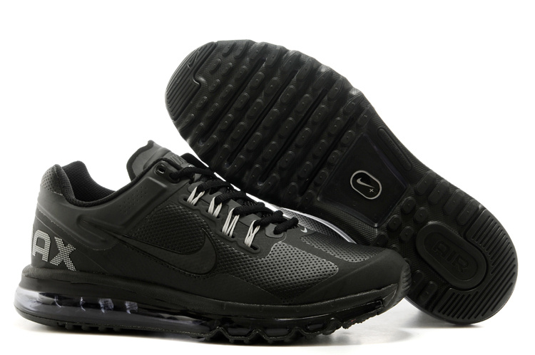 2013 Air Max All Black Running Shoes