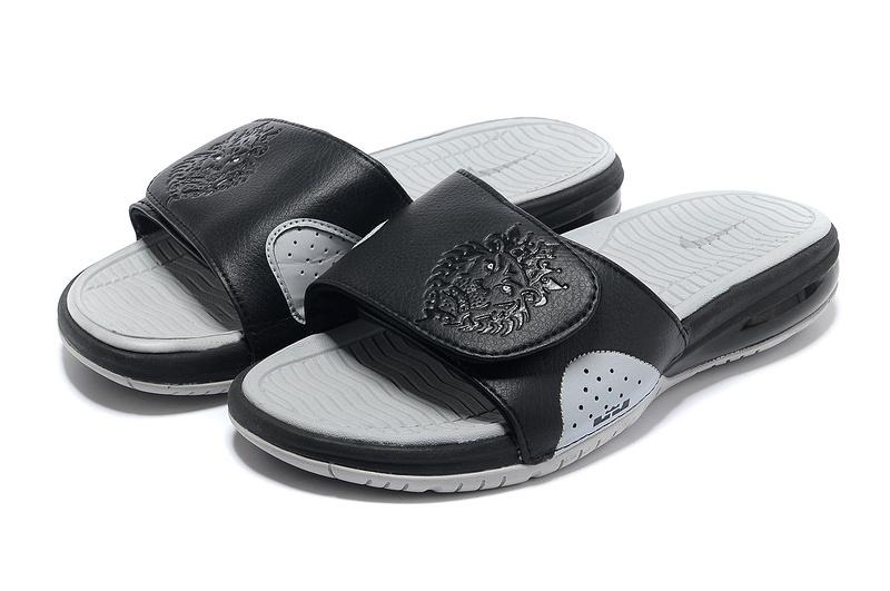 uk availability 3489b 21284 Nike Lebron James Massage Hydro Sandal Black Grey