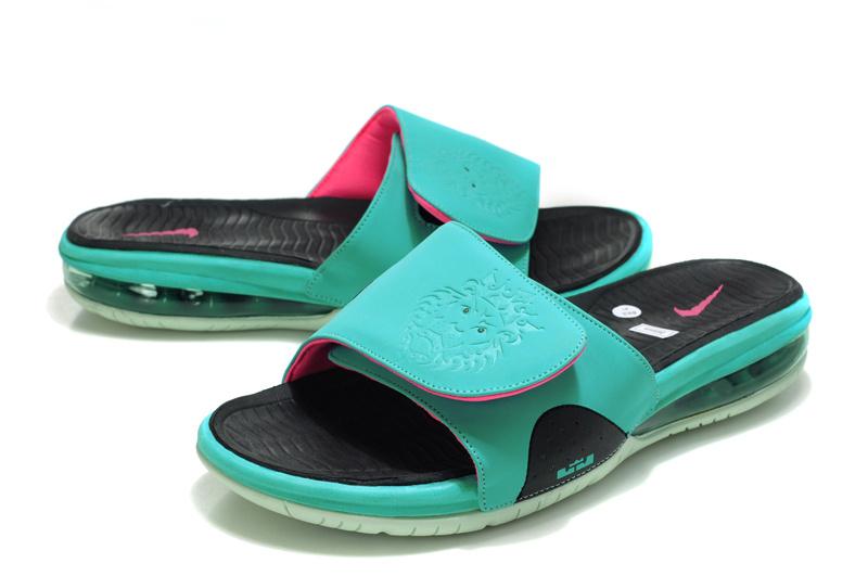 quality design cd88a 7ccb8 Nike Lebron James Massage Hydro Sandal Blue Black Pink