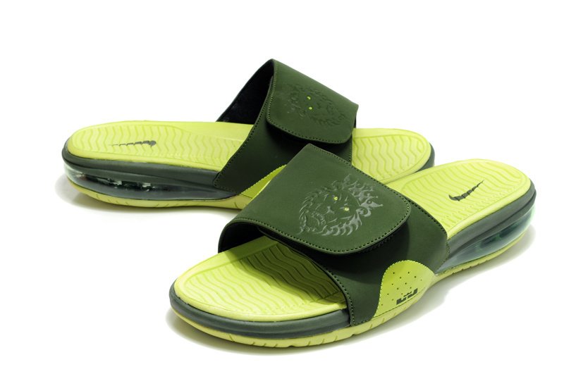 Nike Lebron James Massage Hydro Sandal Green Black