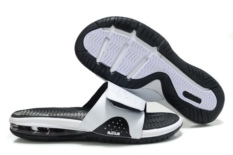 Nike Lebron James Massage Hydro Sandal White Black