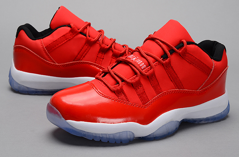Nike Jordan 11 Low Basketball Shoes Red White