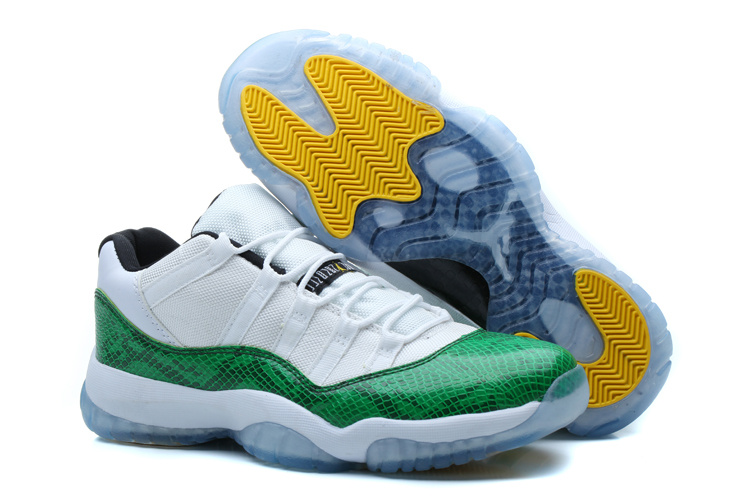 Nike Jordan 11 Low Basketball Shoes White Green
