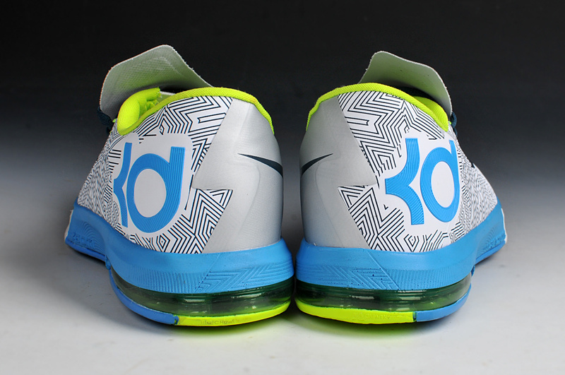 New Nike Kevin Durant 6 White Blue Shoes