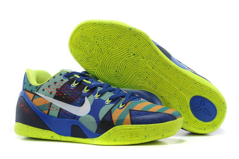 Nike Kobe Bryant 9 Low Blue Orange Yellow Shoes