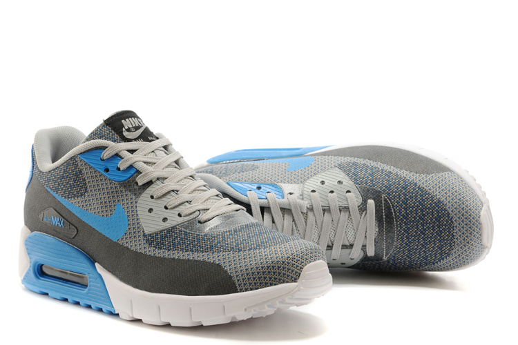 Nike Air Max 90 Grey Blue White Running Shoes