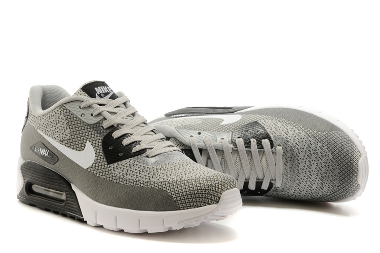 Nike Air Max 90 Grey White Running Shoes