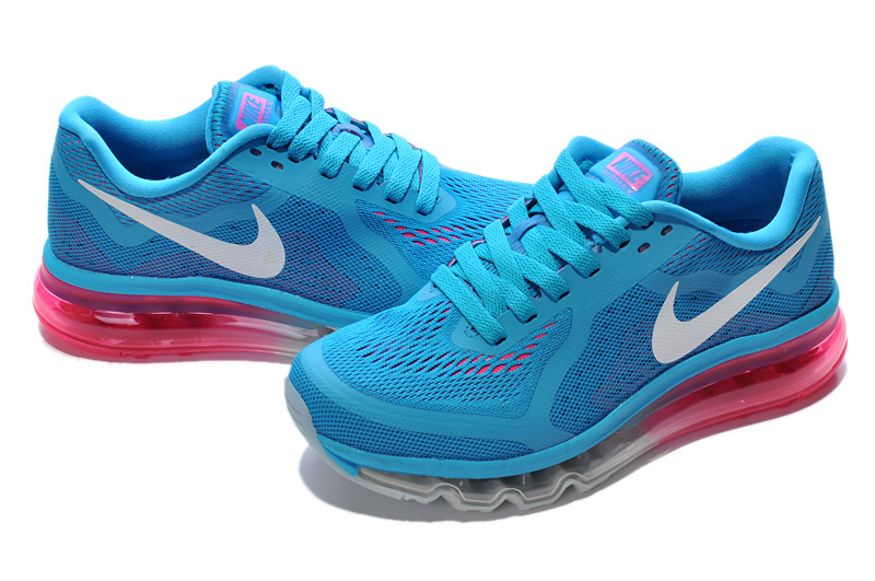 Women Nike Air Max 2014 Shoes Blue White Pink