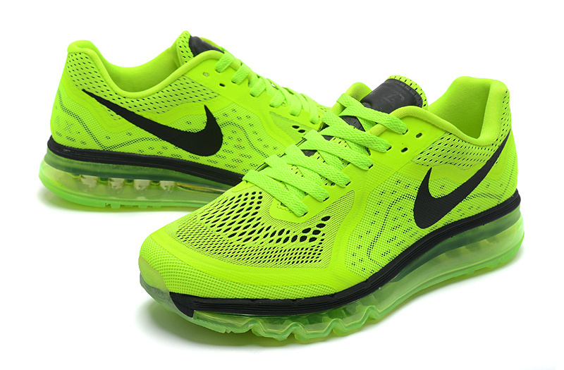 Women Nike Air Max 2014 Shoes Green Black Shoes