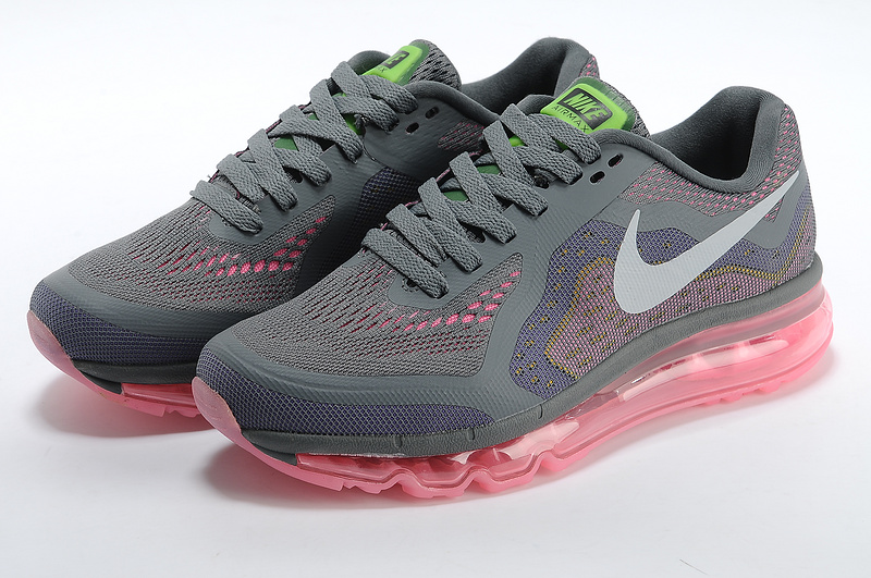Women Nike Air Max 2014 Shoes Grey Pink