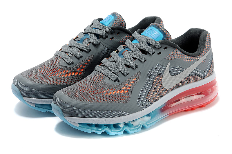 Women Nike Air Max 2014 Shoes Grey White Blue Red