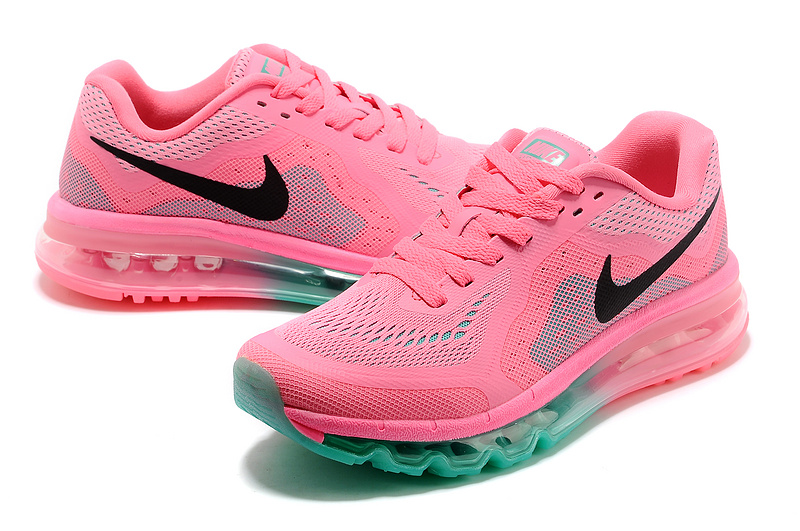 Women Nike Air Max 2014 Shoes Pink Green