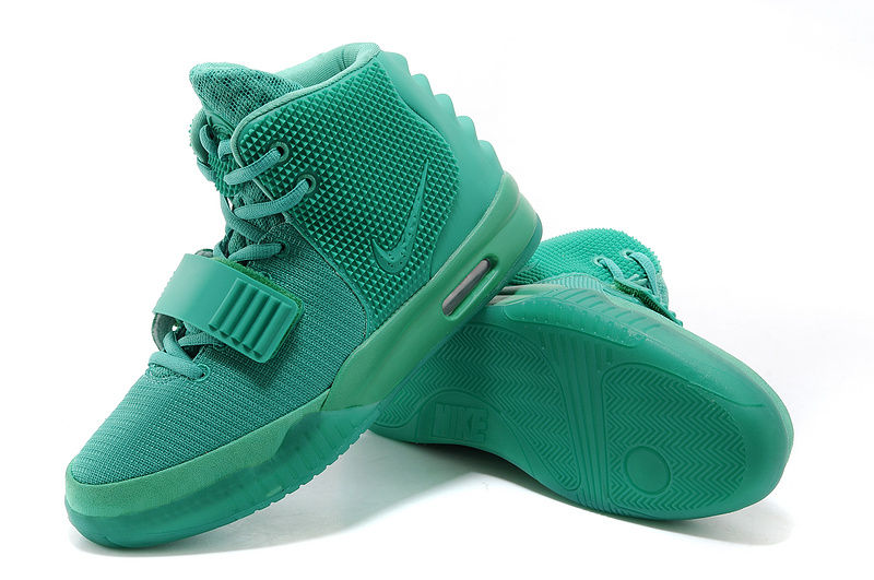 2014 Nike Air Yeezy 2 Green Lantern Lovers Shoes