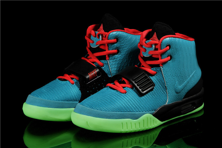 Nike Air Yeezy 2 South Beach Blue Red Black Shoes 7eec3c012