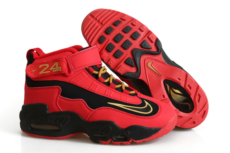 New Nike Ken Griffe Red Black Gold Shoes