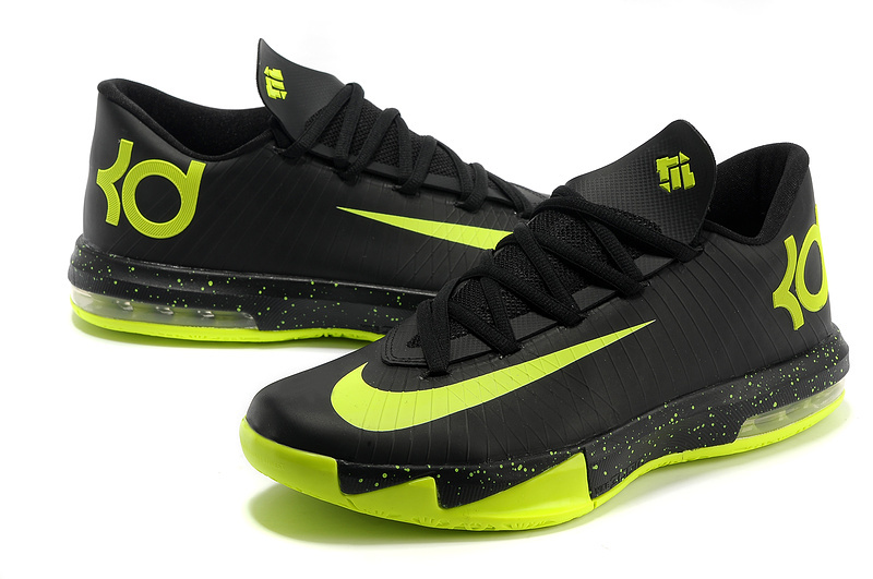 Latest Nike Kevin Durant 6 Black Green Shoes