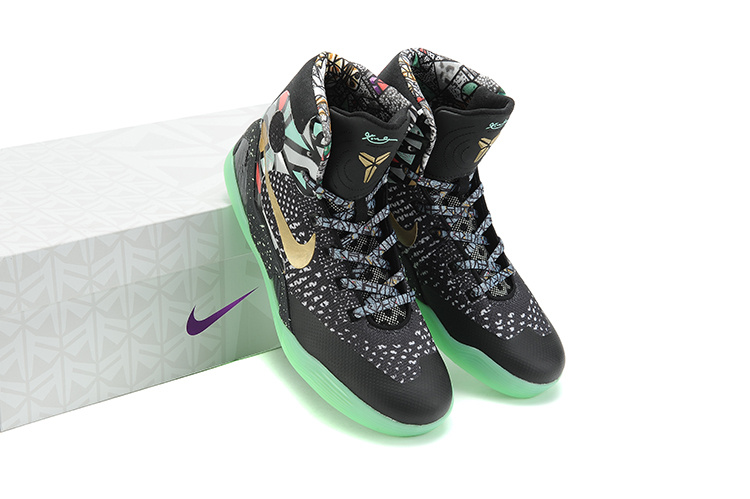 Nike Kobe Bryant 9 Middle Black Green Shoes