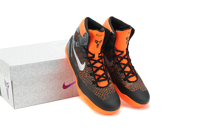 Nike Kobe Bryant 9 Middle Black Orange Shoes