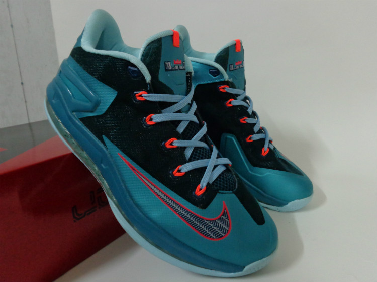 Nike Lebron James 11 Low Blue Black Red Shoes