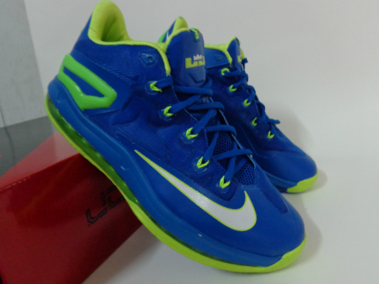 Nike Lebron James 11 Low Blue Green Shoes