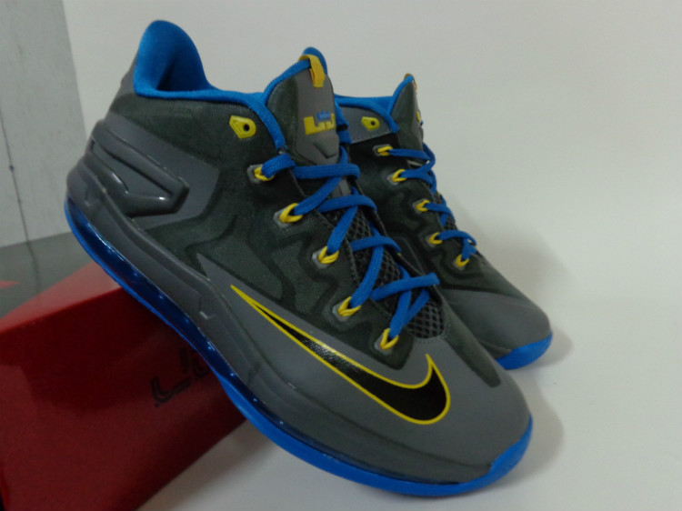Nike Lebron James 11 Low Carbon Blue Yellow Shoes
