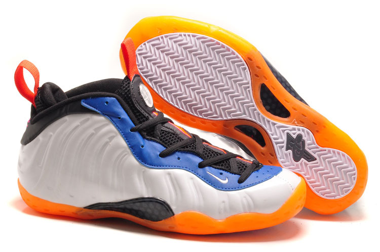 Nike Penny Hardaway White Black Blue Orange Shoes