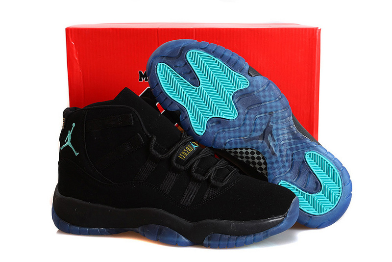 Nike Retro Jordan 11 Bred Nubuck Shoes Black Blue